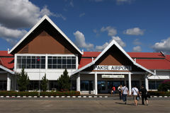 Small Airport Entrance in Pakse Stock Photography