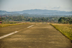 Small Airport Track. View of the rural small aircraft airport in Buenos Aires, Costa Rica Stock Photo
