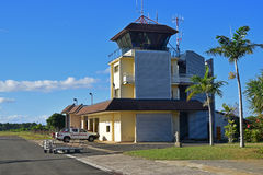 Small airport traffic control tower of a local airport Royalty Free Stock Photos