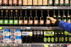 Small Ale bottles in a Store Stock Image