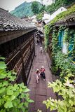 Small alley in Fenghuang ancient town. Fenghuang County simplified Chinese: 凤凰县; traditional Chinese: 鳳凰縣; pinyin: Fènghuá stock photos