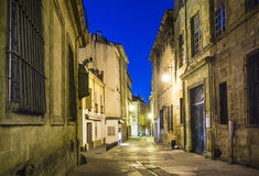 Small alley by night in Aix Stock Image