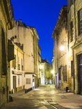 Small alley by night in Aix Royalty Free Stock Photo