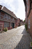Small alley at the old town of Lueneburg Royalty Free Stock Images
