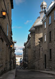 Small alley in Quebec, Canada. Quited alley in beautiful Quebec, Canada royalty free stock photography