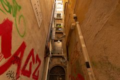 Small alley in Venice stock images