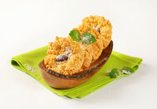 Small almond crumb cookies Royalty Free Stock Photos