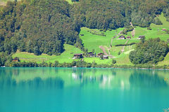 Small alpine lake Stock Photography