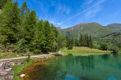 Small alpine lake. Royalty Free Stock Images