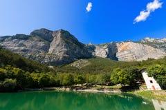 Small Alpine Lake- Trentino Italy Royalty Free Stock Photography
