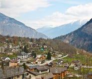 Small alpine village in Switzerland Royalty Free Stock Photography