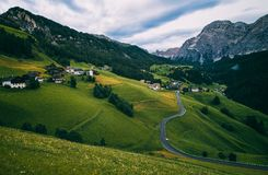 Small alpine villages nearby La Valle Royalty Free Stock Images