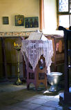 Small altar in the Orthodox Church Royalty Free Stock Photography