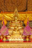 Small altar of worship to Buddha at Wat Phra Kae, Temple of the Emerald Buddha royalty free stock images