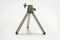 Small aluminimum camera tripod in close view Stock Photo