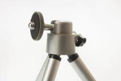 Small aluminimum camera tripod in close view Royalty Free Stock Photos