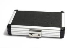 Small aluminium case with lock. On white background Royalty Free Stock Image