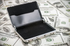 Small aluminum case for the dollar Stock Photo