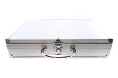 Small aluminum suitcase Royalty Free Stock Image