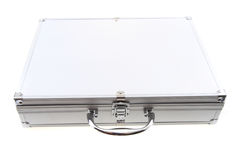 Small aluminum suitcase Royalty Free Stock Image