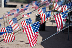 Small American flags Royalty Free Stock Image