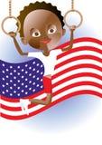 Small American gimnast Stock Photo