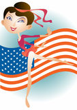 Small American gimnast girl Royalty Free Stock Images