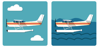 Small amphibian plane Royalty Free Stock Images
