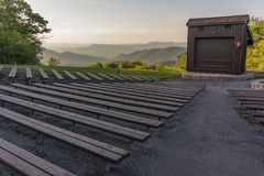 Small Amphitheater in Shenandoah. An amphitheater in the campground of a national park provides a place for programming stock photo