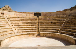 Small amphitheatre in Amman. A small amphitheatre beside the wellknown roman theatre in downtown Amman/Jordan Royalty Free Stock Photography
