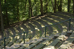 Small amphitheatre in the forest Royalty Free Stock Photos