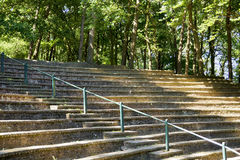 Small amphitheatre in the forest Stock Photo