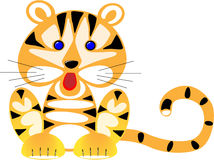 small amusing drawn tiger Royalty Free Stock Photography