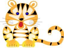 small amusing drawn tiger Royalty Free Stock Photography