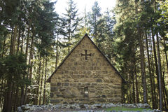 Small ancient church in a forest, Georgia. Small ancient church in a forest, Borjomi, Georgia Royalty Free Stock Images