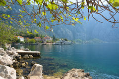 Small ancient town Strp in Kotor Bay Royalty Free Stock Image