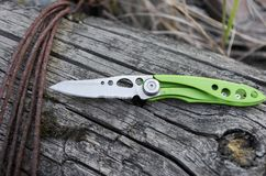 Small And Light Knife For Everyday Carrying In The City. EDC Knife. Stock Photos