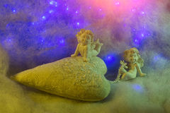Small angel figurines Royalty Free Stock Photo