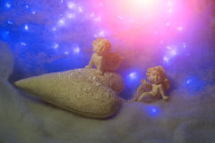 Small angel figurines Royalty Free Stock Image