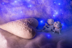 Small angel figurines Royalty Free Stock Images
