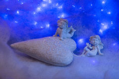 Small angel figurines Royalty Free Stock Photos