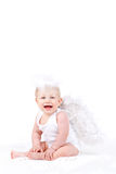 Small angel with the wings isolated on the white. Stock Image