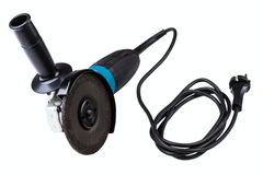 Small angle grinder with abrasive disk Stock Photography