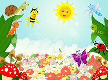 Small animals cartoon Stock Photos