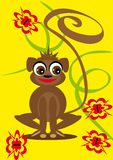 Small animation monkey on the isolated background Stock Photography