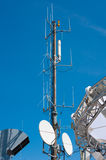 Small antenna tower. Antenna tower for data communications Stock Photography