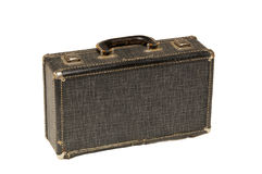 Small antique clarinet case on white Stock Photography