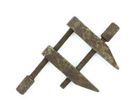 Small antique metal clamp Royalty Free Stock Photography