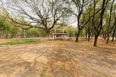 Small antique style structure in the depths of a beautiful park, Royalty Free Stock Images
