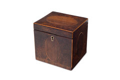 A Small Antique Wooden Tea Caddy Stock Photography
